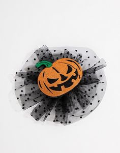 Buy ASOS DESIGN HALLOWEEN hair clip with pumpkin and spotty mesh at ASOS. Get the latest trends with ASOS now. Halloween Hair Clips, Halloween Magic, Halloween Design, Treasure Chest, Asos, Mesh, Pumpkin, Goals, Pumpkins