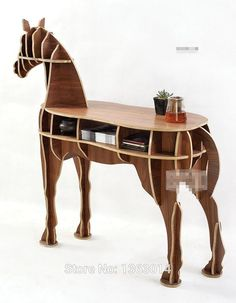 "J&E High end series ""L"" size horse style wood coffee table! New design!-in Coffee Tables from Furniture on Aliexpress.com 