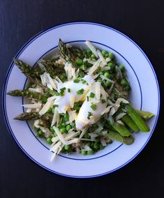 Brown Rice Bowl with Roasted Asparagus, Peas, Parm & Poached Egg | Living Healthy in Seattle