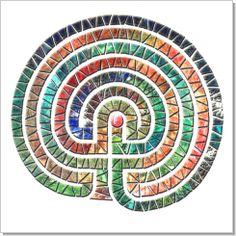 Labyrinth, Calligraphy Art Plaques & Inspirational Gifts by Michael Noyes Labyrinth Maze, Labyrinth Garden, Ancient Symbols, Spiritual Symbols, Calligraphy Art, Religious Art, Inspirational Gifts, Rock Art, Zentangle