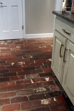 Real Brick Floor In The Kitchen Looks Like The Same Brick That Was On Our  House