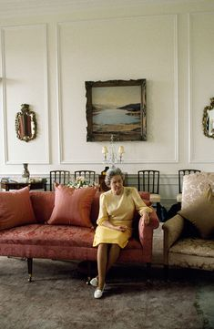 HM Queen Elizabeth II pictured watching the news on television at the Palace of Holyroodhouse in Edinburgh, Scotland