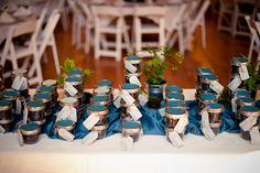 coffee bean favors in mason jars; SaskiaM Photography http://su.pr/1TcpV6 #wedding #DIY