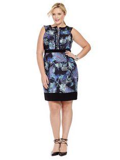 Plus Size CITY CHIC American Palm Dress