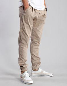 Dr Denim Joel Low Crotch Chino Pants - Khaki - Kaeho Australia