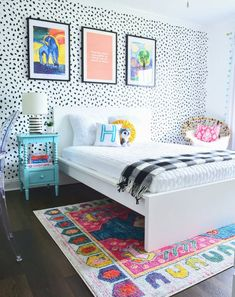 Hottest Pics 7 Stylish and Easy IKEA Hacks for Kids Playrooms or Kids Bedrooms Girls Bedroom Colors, Girl Bedroom Walls, Accent Wall Bedroom, Girl Bedroom Designs, Girl Room, Ikea Girls Bedroom, Tween Girl Bedroom Ideas, Colorful Girls Room, Tween Girls