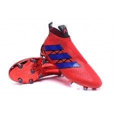 564fd775ac2 Boys  adidas Ace16+ Purecontrol FG - Red Blue cheap football shoes Cheap  Football Shoes