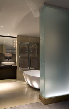 Brilliant Lighting LED uplights. Featured in June 2014 Kitchens  Bathrooms News