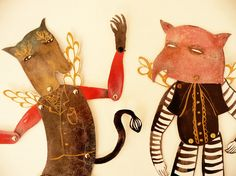 Hybrid Hinged Beasts Articulated Paper Dolls