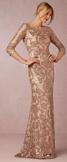 Mother of the Bride Dress | Taupe Lace