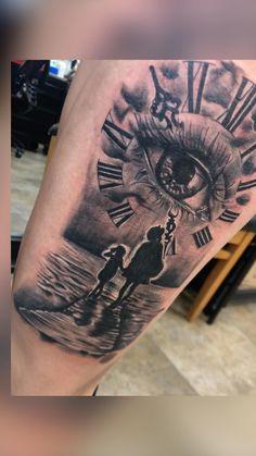 Clock Tattoo Sleeve, Half Sleeve Tattoos Forearm, Cool Forearm Tattoos, Best Sleeve Tattoos, Sleeve Tattoos For Women, Tattoo Sleeve Designs, Tattoo Designs Men, Small Tattoos, Cool Tattoos