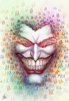 Background idea for joker/batman dual face painting. Haha for joker, Batman signals for batman