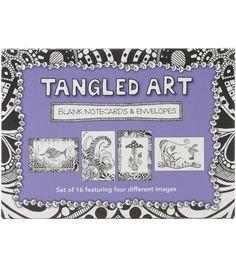 Tangled Art Blank Cards & Envelopes