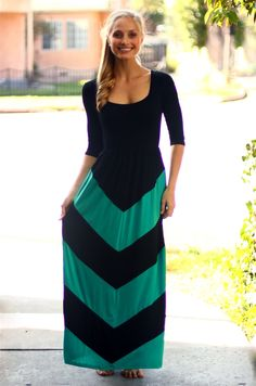 Chevron maxi dress from Be Inspired Boutique #inspiredbyyou