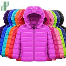 HH children jacket Outerwear Boy and Girl autumn Warm Down Hooded Coat teenage parka kids winter jacket Size2 9 10 12 13 years(China)