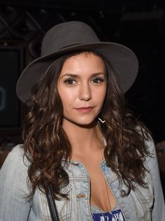 Nina Dobrev seen as she arriving at the Taylor Swift concert in LA