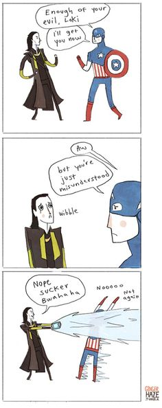 Great Illustration by Noelle Stevenson! A humorous scene of The Avengers.