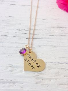 Maid of Honor Jewelry MOH Necklace by BadBadJewelry on Etsy Bad Bad, Maid Of Honor, Arrow Necklace, Handmade, Etsy, Jewelry, Maid Of Honour, Bridesmaid, Hand Made