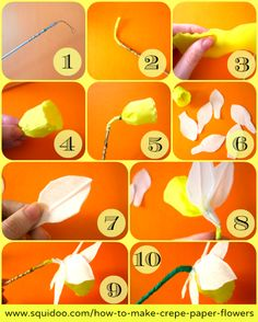 How to make crepe paper flowers pinterest crepe paper crepes how to make crepe paper flowers mightylinksfo