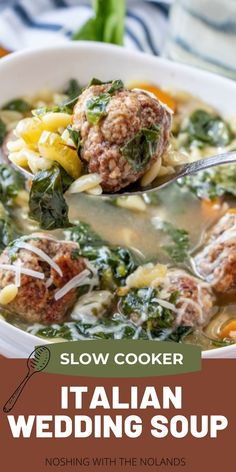 Best Crockpot Recipes, Pork Recipes, Slow Cooker Recipes, Cooking Recipes, Crock Pot Soup, Slow Cooker Soup, Homemade Beef Stew, Wedding Soup, Lean And Green Meals