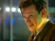 He's got his clothes back on: The star looked like he enjoyed his final episode as The Doctor