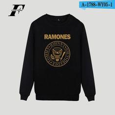 LUCKYFRIDAYF Ramones Hot Band Hoodie Sweatshirt Punk Music Winter Comfortable Cotton Mens Hoodies And Sweatshirts Hip Hop Plus