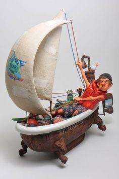 Guillermo Forchino Ship Ahoy - Navire En Vue - Comical Art Figurines, Sculptures