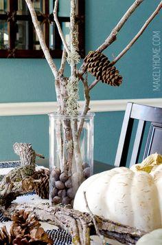Au Naturel: Free Fall Decorating Ideas via MakelyHome.com