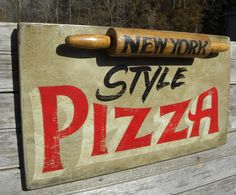 Painted Letters, Hand Painted Signs, Pizza Sign, Faux Painting Techniques, Barn Wood, Wooden Signs, Decorative Items, Fun Crafts, Hand Lettering
