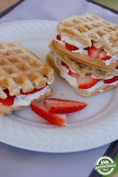 Waffle Sandwiches - Kids Activities Blog