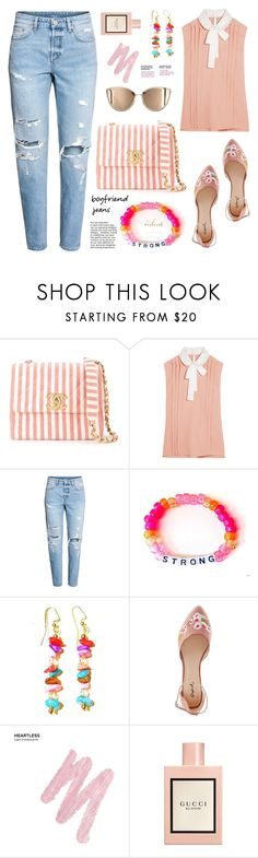 """Borrowed from the Boys: Boyfriend Jeans"" by samra-bv ❤ liked on Polyvore featuring Chanel, Miu Miu, Qupid, Urban Decay, Gucci, boyfriendjeans, contestentry, polyvoreset and shopjewelry"