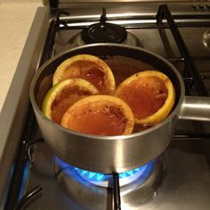 Boil orange peels and cinnammon to make the house smell really goood:)