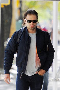 Sebastian Stan seen out in Tribeca on October 05 2015 in New York New York