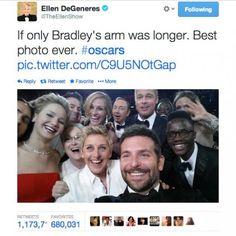 Oscars 2014: Ellen DeGeneres snaps the world's most epic selfie - UPI.com