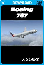 AFS Design Boeing 767 available now for FSX and FS2004