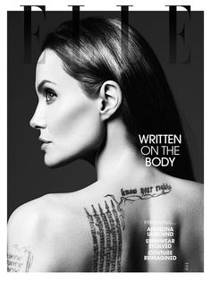 Angelina Jolie by Hedi Slimane for Elle US 2014