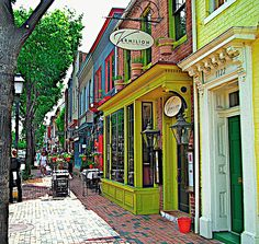 Old Town Alexandria, Virginia USA--all its boutiques, antique shops, restaurants, and theaters make it a popular spot for tourists and a desired place to live for Washington DC's professionals. Best Places To Live, Oh The Places You'll Go, Places To Visit, Amazing Places, Alexandria Virginia, Old Town Alexandria, Virginia Usa, Virginia Beach, Virginia History