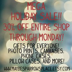 Holiday sale!!! www.maybesparrowsplace.etsy.com