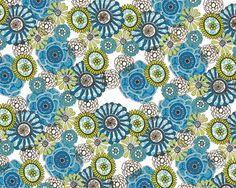 Sonya's Flowers Blue Mural - Erin Ries| Murals Your Way