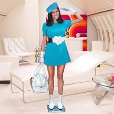 """""""At Your Service"""" Flight Attendant Looking Dress """"I just had my weigh in. I have been warned. If I gain another quarter of a pound I'm out"""".ON HOLD. Visit www.seeseeroxy.com for exclusive posts! Dresses"""