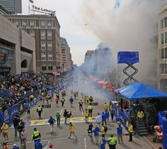 BOSTON - APRIL 15: Two explosions went off near the finish line of the 117th Boston Marathon on April 15, 2013.
