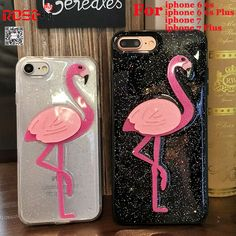 f70f432f126 Luxury Glitter Bling Flamingo Soft TPU Cases For iphone 7 Plus 6 6S Plus 3D  Fashion Shiny Cover for iphone 7 6 Coque Fund-in Rhinestone Cases from ...