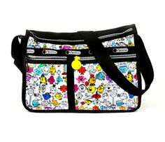 Mr. Men Little Miss Deluxe Everyday Bag: Multi-Character Print