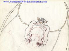 Production drawing from Disney Studios Fantasia (1940)