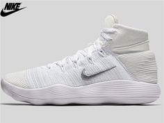 half off d9f5b 29560 MenS Nike React Hyperdunk 2017 Flyknit Basketball Shoes White Pure Platinum  Metallic Silver 917727-100,Nike-Nike Hyperdunk 2017 Shoes Sale Online