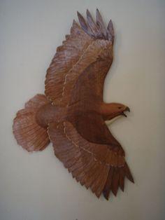Redtail - Stuart Bond Woodcarving