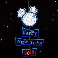 Mickey Mouse New Year's Glitter Ball Mobile