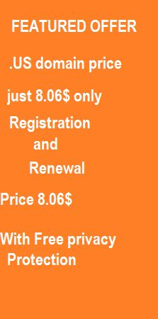 .US domain price register and renewal price also 8.06$