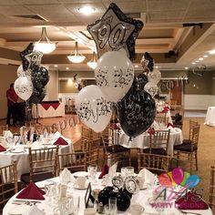 90th Birthday Milestone Balloon Bouquet #partywithballoons