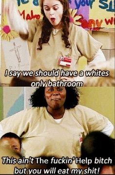 Orange is the New Black - Taystee & Tiffany; omggg how did I miss this part?